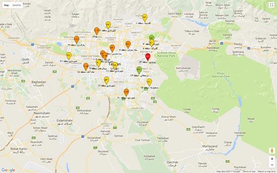 سایت مرکز کنترل کیفیت هوا