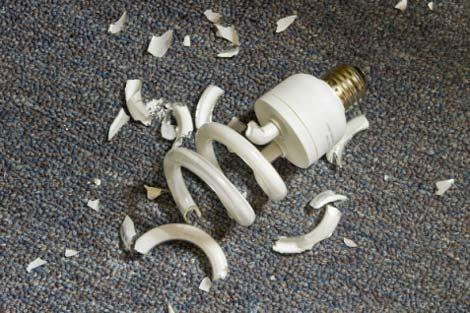 آلودگی لامپ کم مصرف