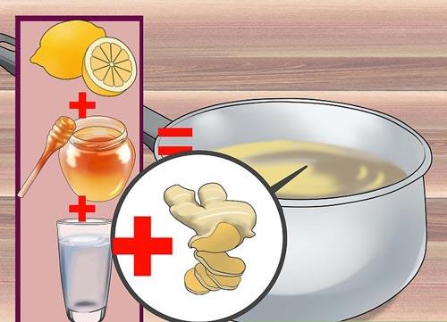 شربت زنجبیل، عسل و لیمو برای درمان سرفه خشک مزمن