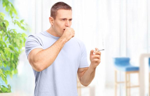 ترک سیگار برای درمان سرفه